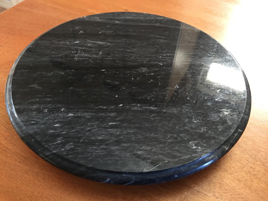 Striking black marble with white streaks Lazy Susan