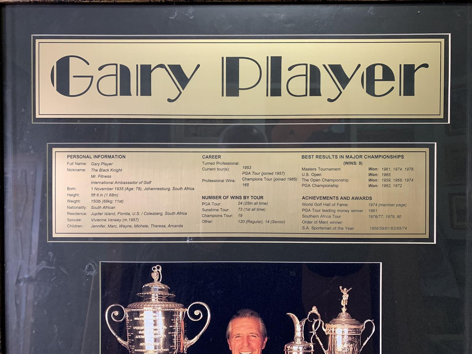 Gary Player limited edition memorabilia