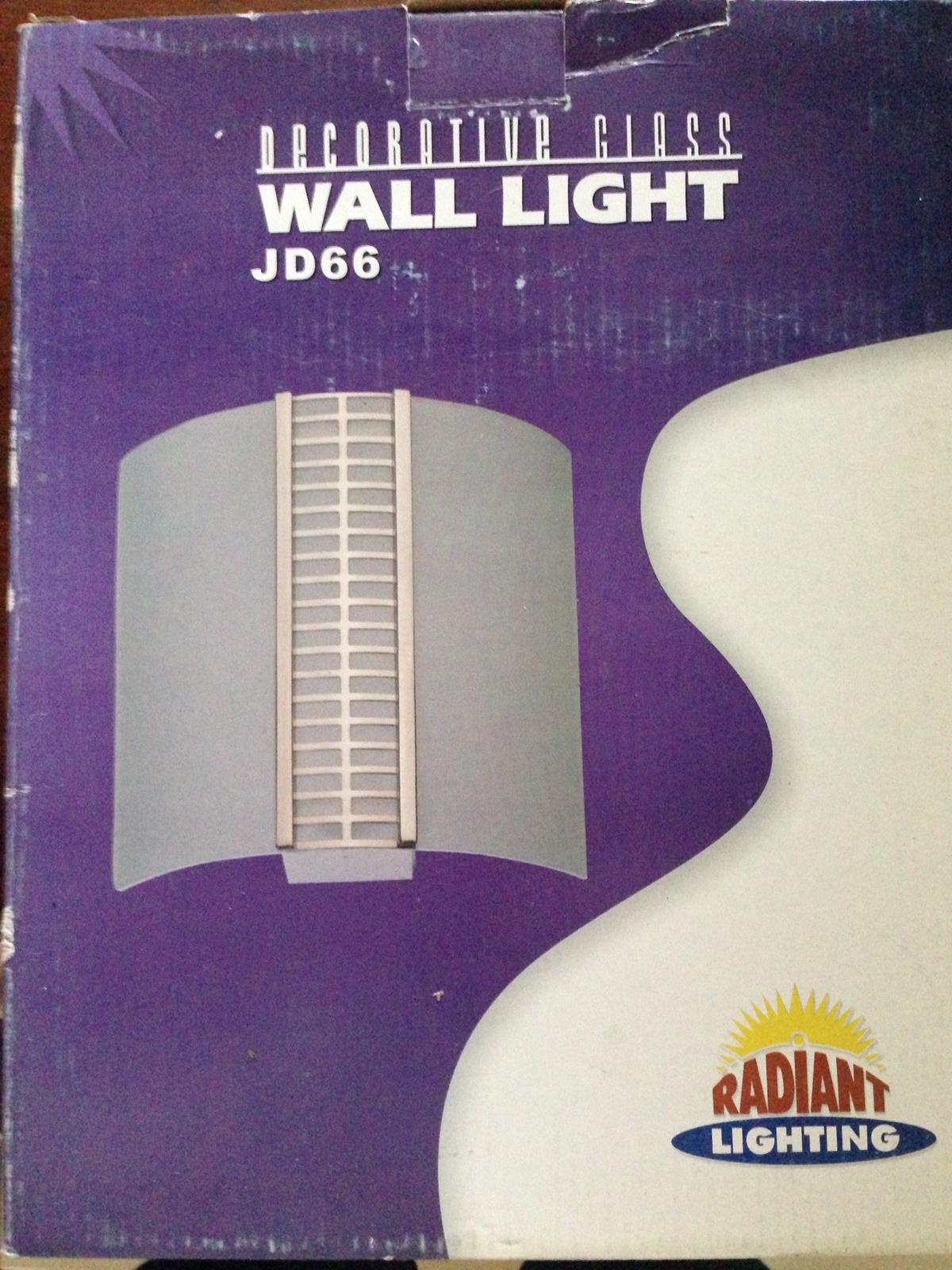 Decorative Glass Wall Lights x4