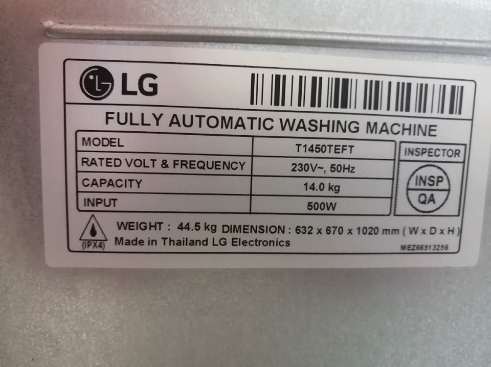 Washing machine to sell 2 year old 14kg LG toploader