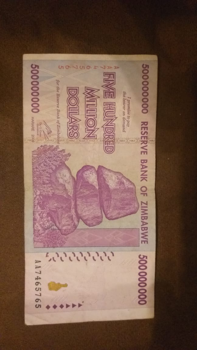 500 Million Zimbabwe Dollar Note Junk