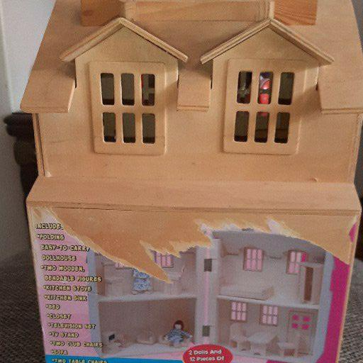 Old wood doll house