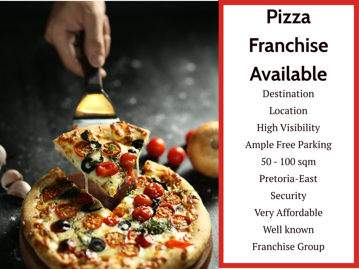 Pizza Shop Available in Centurion Area