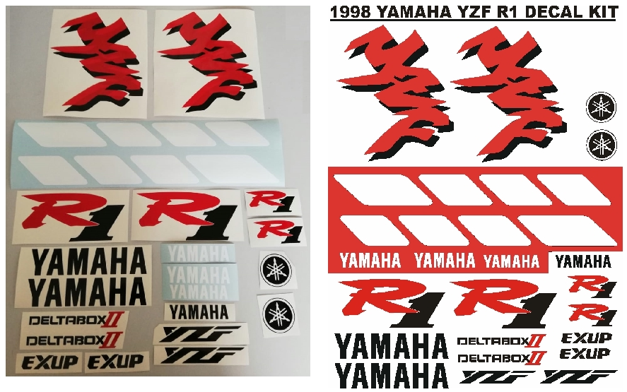 1998 Yamaha YZF R1 graphics stickers decals kits.