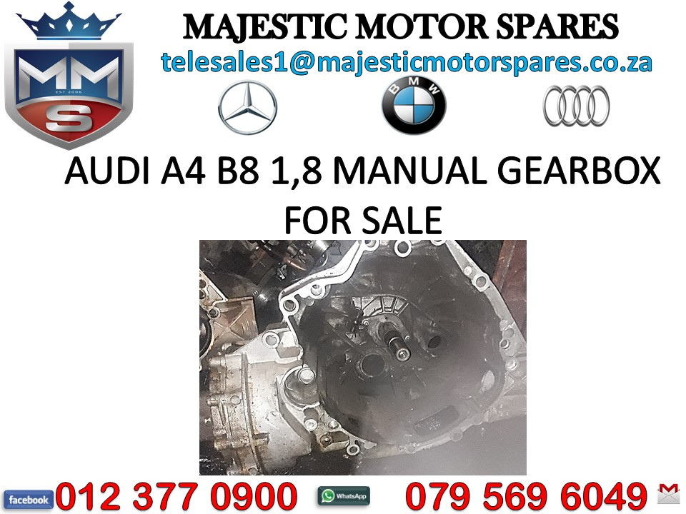 Audi A4 B8 1.8 Manual Gearbox for sale - used