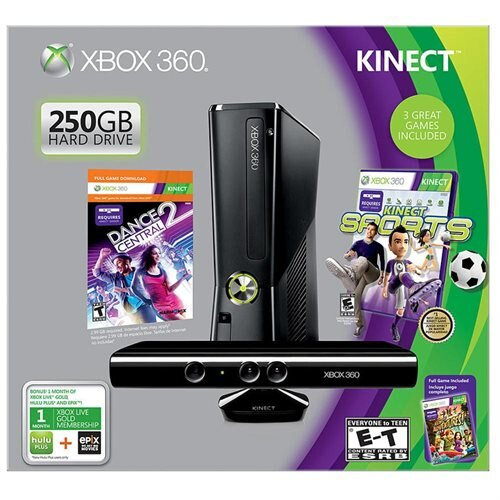 xbox 360 kinect bundle set (36 games,controller and kinect) winter special