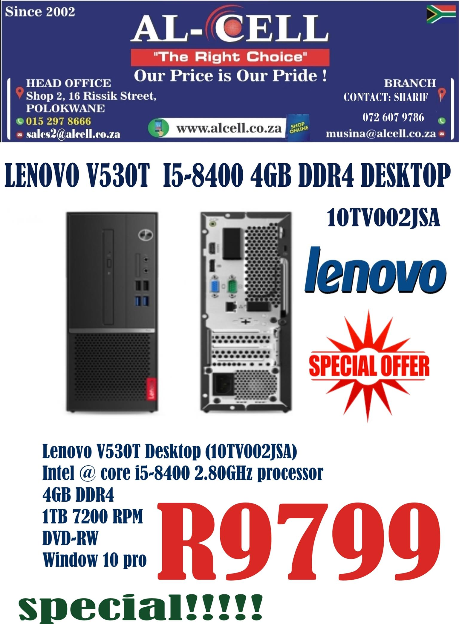 Lenovo V530T I5-8400-4Gb DDR4-1TB-W10P Desktop