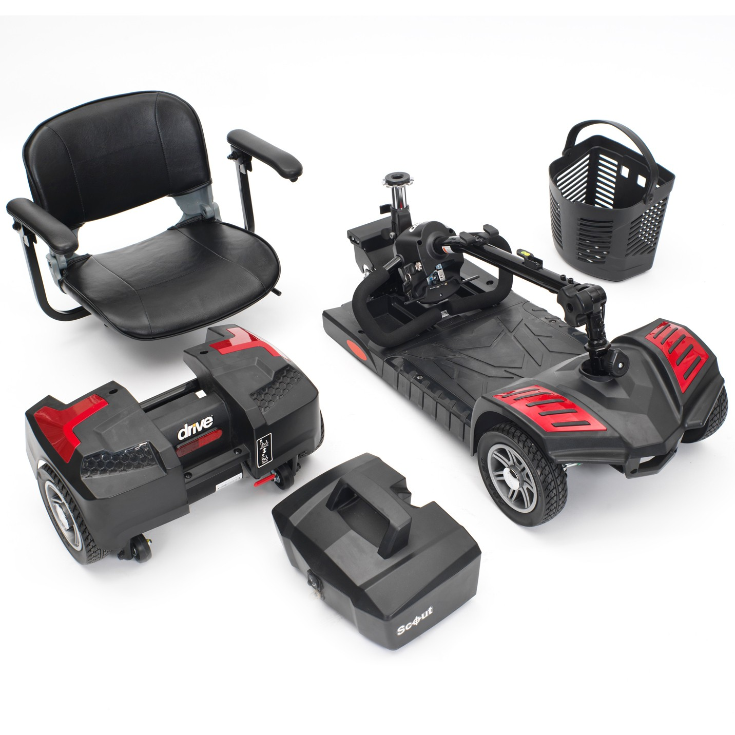Mobility Scooter on Promotional Offer. Scout 4 Wheel Travel Power Scooter by Drive Medical