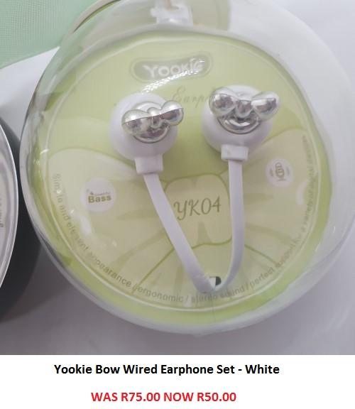 Yookie Bow Wired Earphone Set