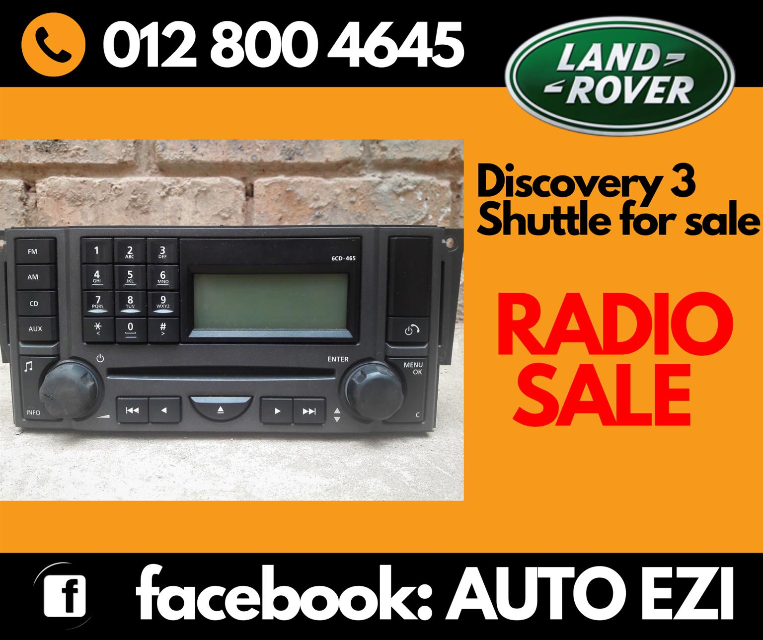 Land Rover Discovery 3 Shuttle Radio For Sale