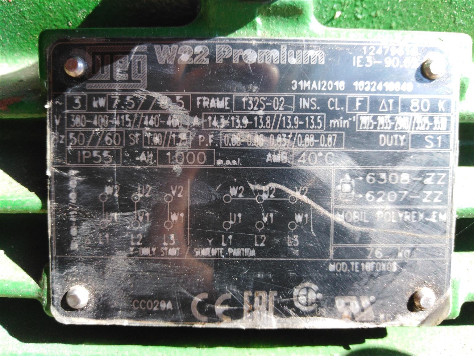 Electric motor 3 phase 7.5kw WEG