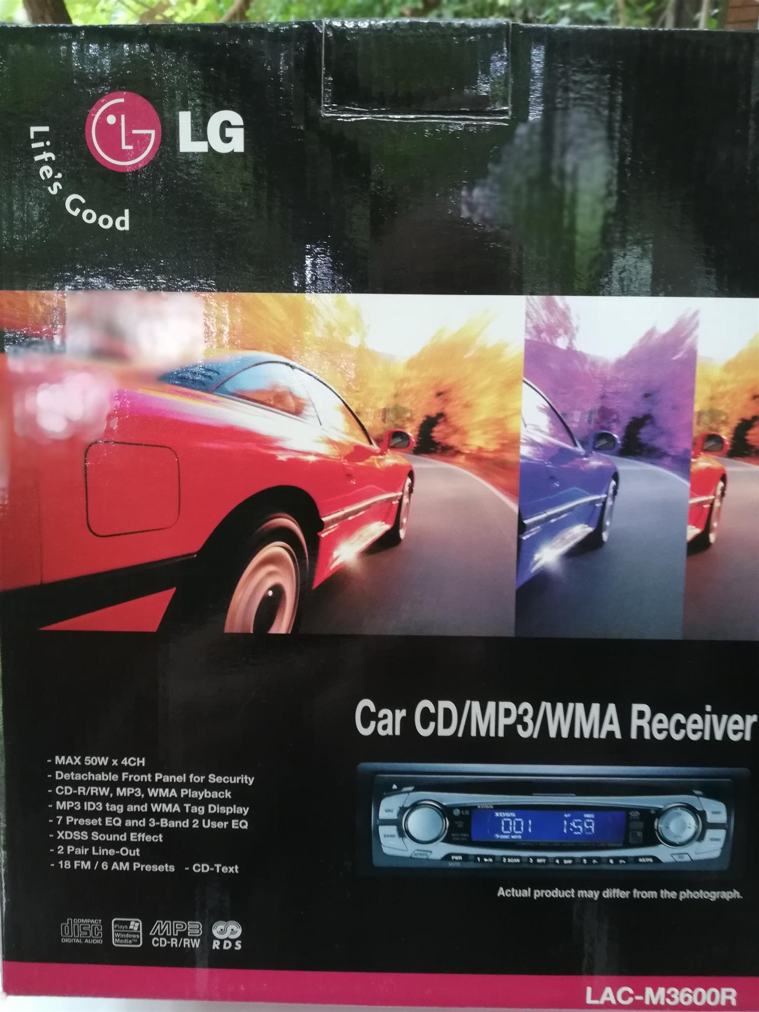 LG Car Stereo CD/MP3  50W x 4 LAC-M3600R