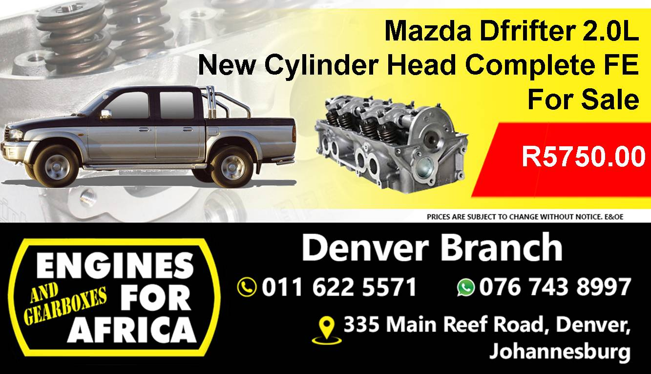 New Mazda Drifter 2.0L Cylinder Head Complete FE for sale at Engines for Africa
