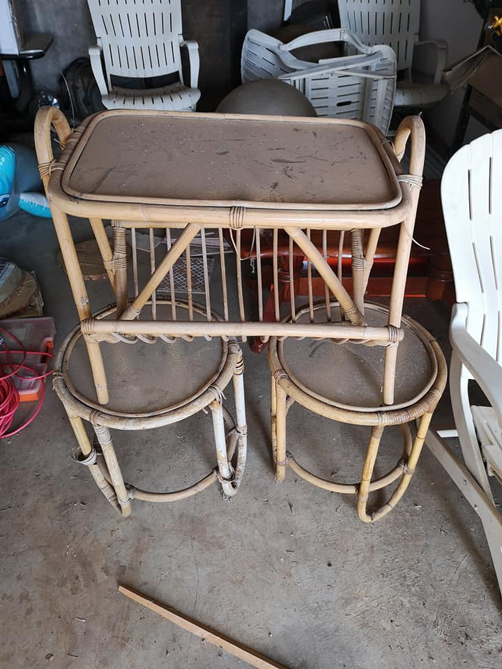 Cane table set for sale