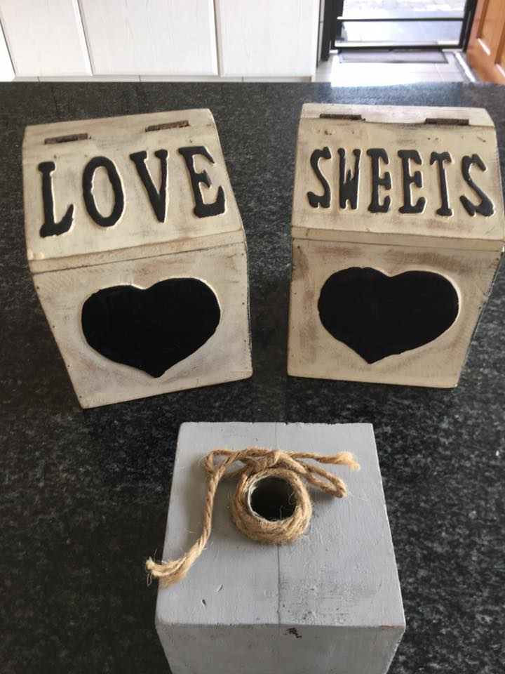 Love and sweets bins for sale