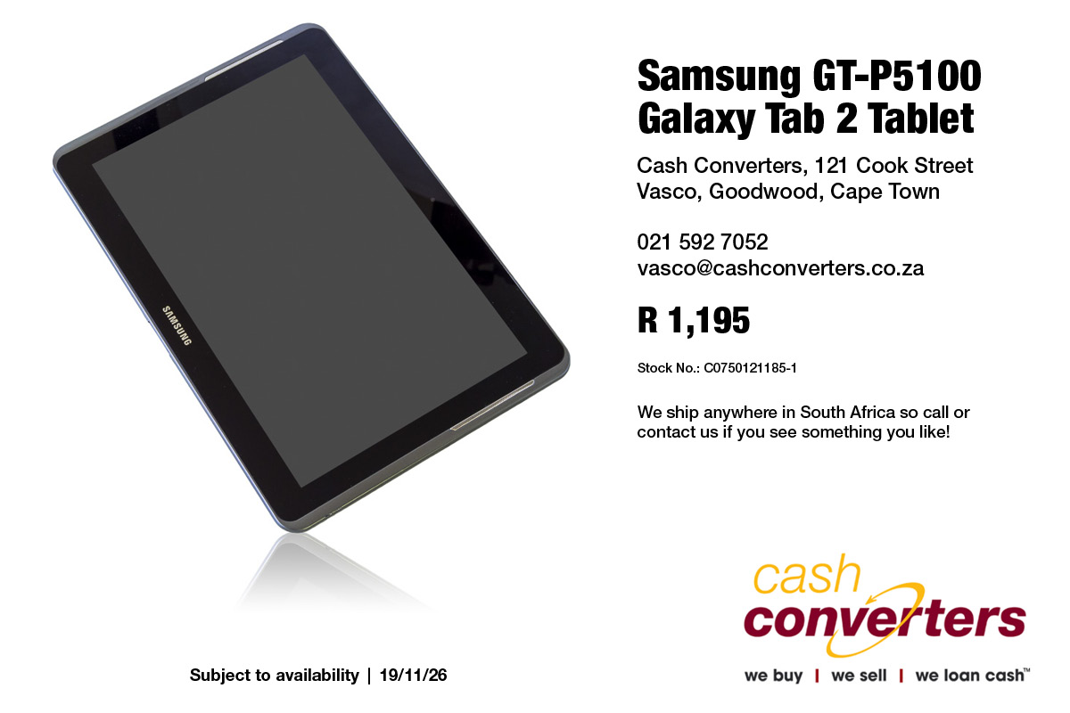 Samsung GT-P5100 Galaxy Tab 2 Tablet