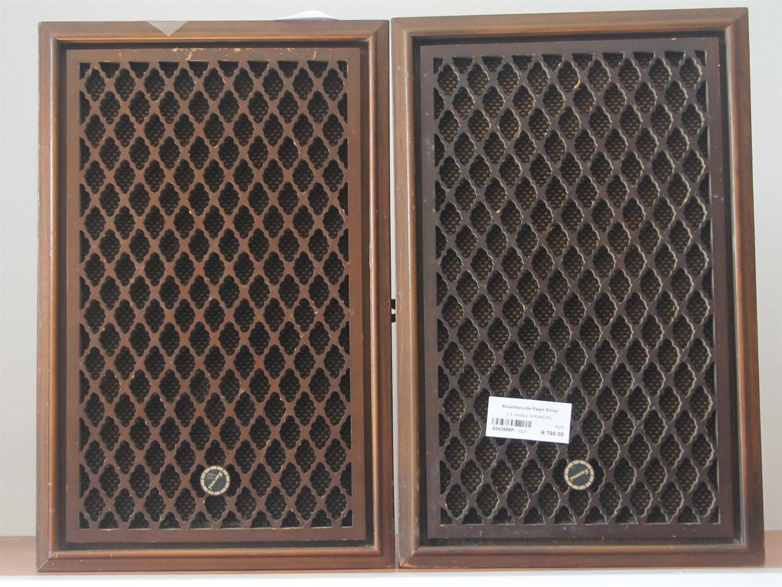 2X sansui speakers S043688P #Rosettenvillepawnshop