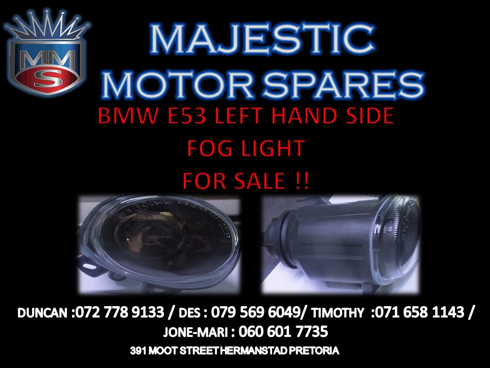 BMW E53 LEFT HAND SIDE PREFACE FOG LIGHT