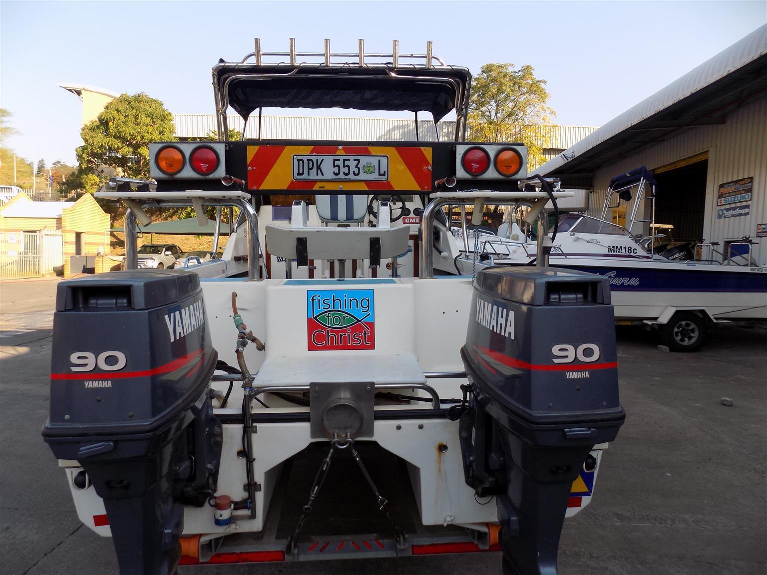 cobra cat 525 on trailer 2 x 90 hp yamaha