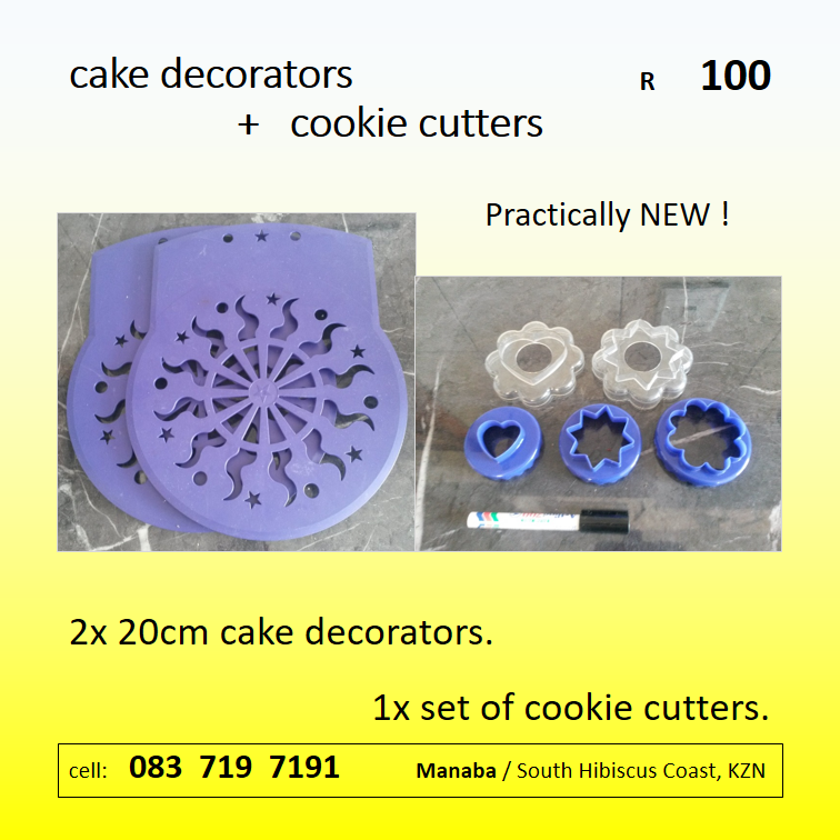 baking cake decorators + cookie cutters