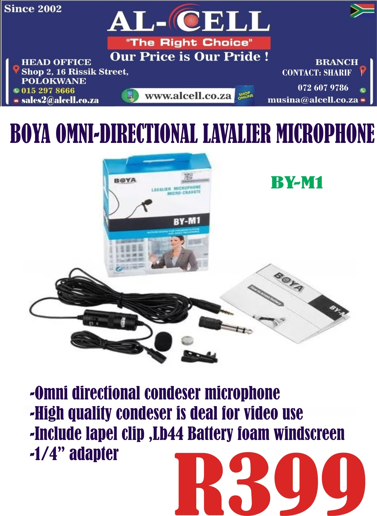 Boya Omni-Directional Presentation Mini Microphone