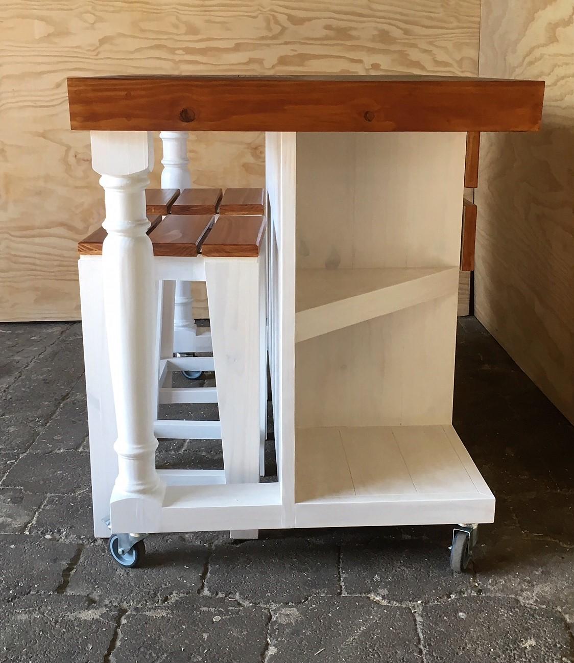 Kitchen Island Farmhouse Elegant series 1200 version 2 Combo - Two tone