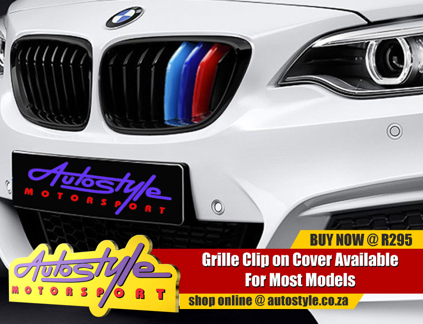 Suitable to fit BMW M3 etc kidney grille covers, 3 colors, non genuine.