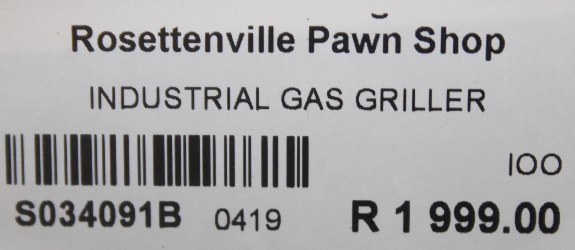 S034091B Industrial gas griller #Rosettenvillepawnshop