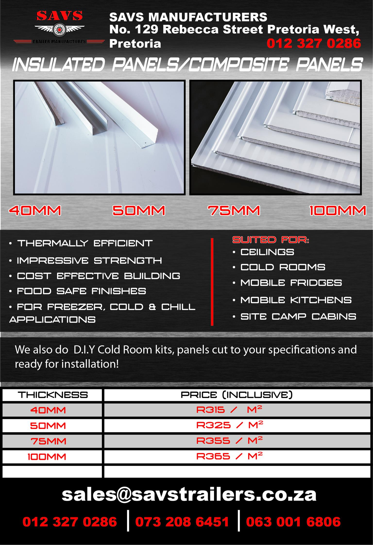 Insulates Panels / Composite Panels