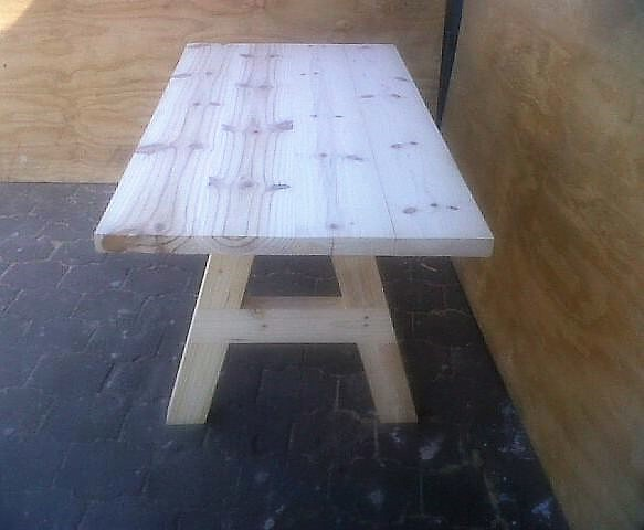 Patio table Chunky Cottage series 1800 A-Frame legs Raw