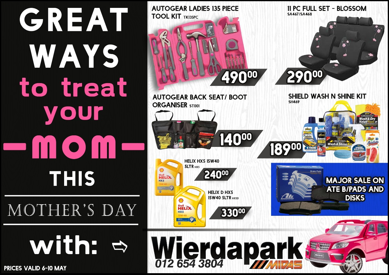 Great ways to Treat your Mom this Mother's Day at Wierdapark Midas!