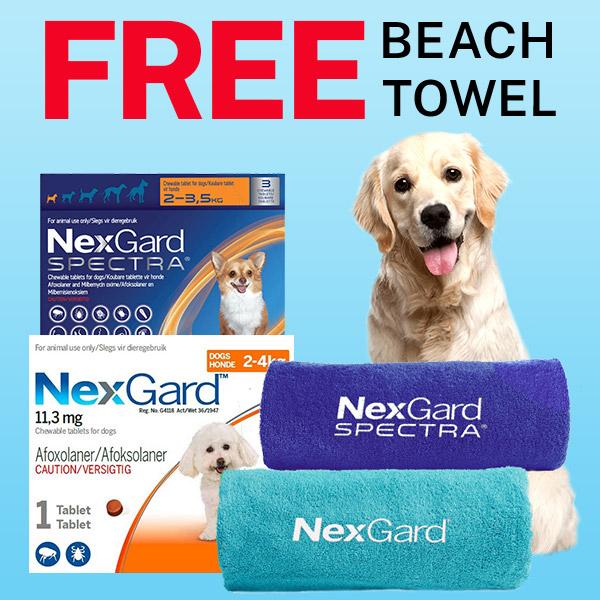 Nexgard Spectra Upto 30% OFF+10% Spring Sale+FREE Beach Towel BudgetPetSupplies