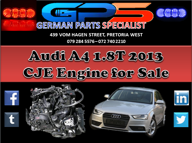 Audi A4 1 8T 2013 CJE Engine for Sale | Junk Mail