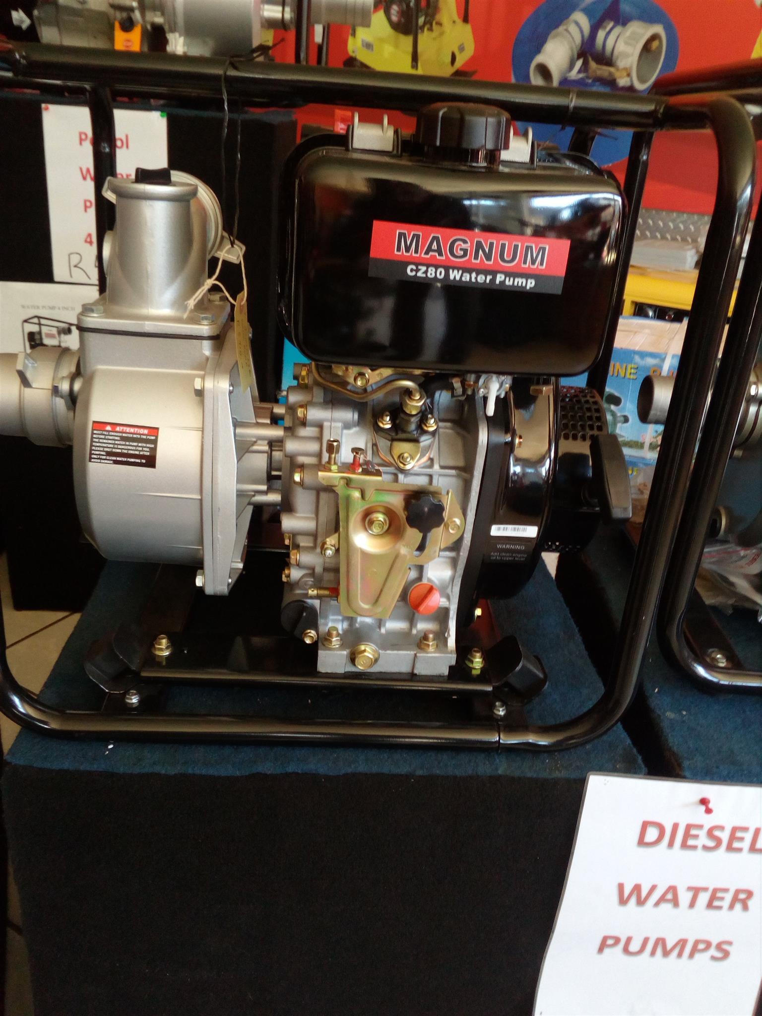 Magnum Diesel 3''/80mm  Water Pump with 6hp Diesel Engine, Price incl Vat