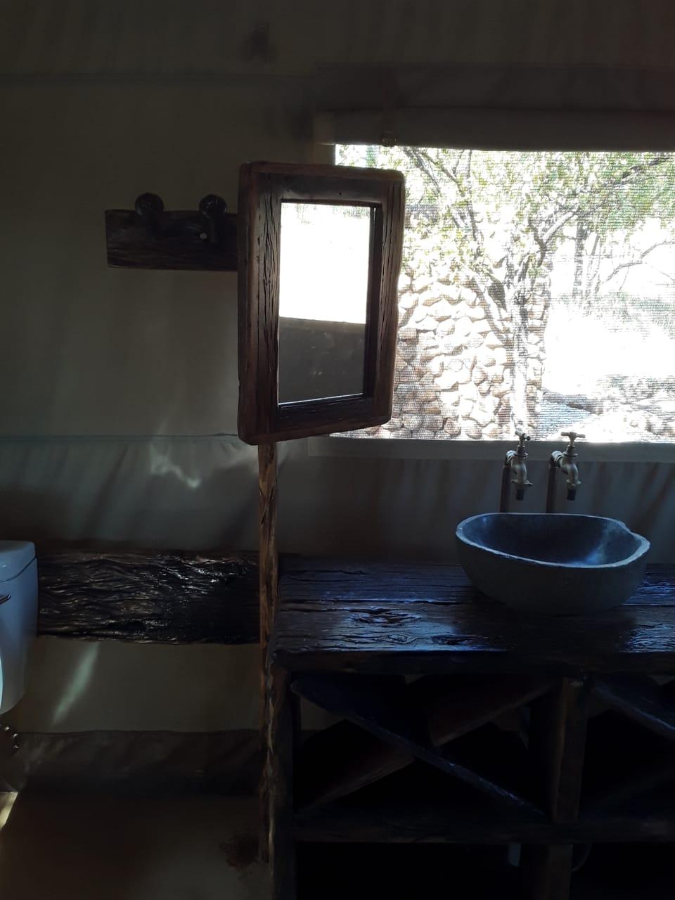 Sleeper wood bathroom mirror