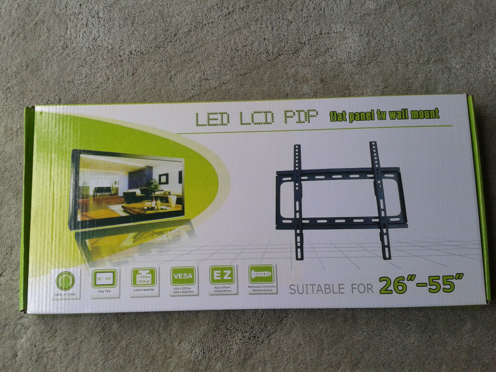 TV Wall Mount Bracket, Flat Panel TV Wall Mount Bracket 26inch to 55inch. Brand New Products.