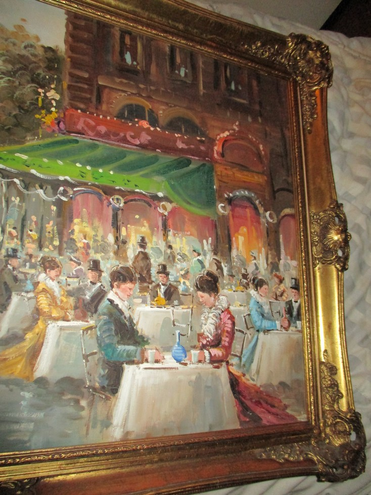 French Impressionist Oil Painting . make an offer