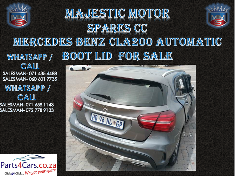 Mercede benz boot lid for sale