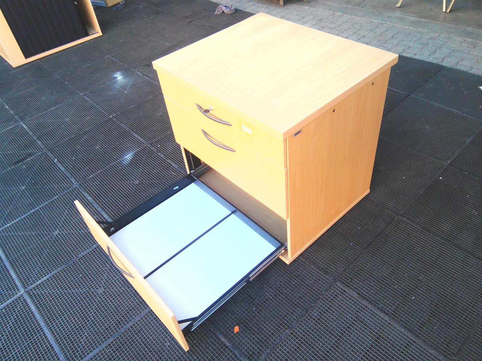 Optiplan 3 drawers beech wood