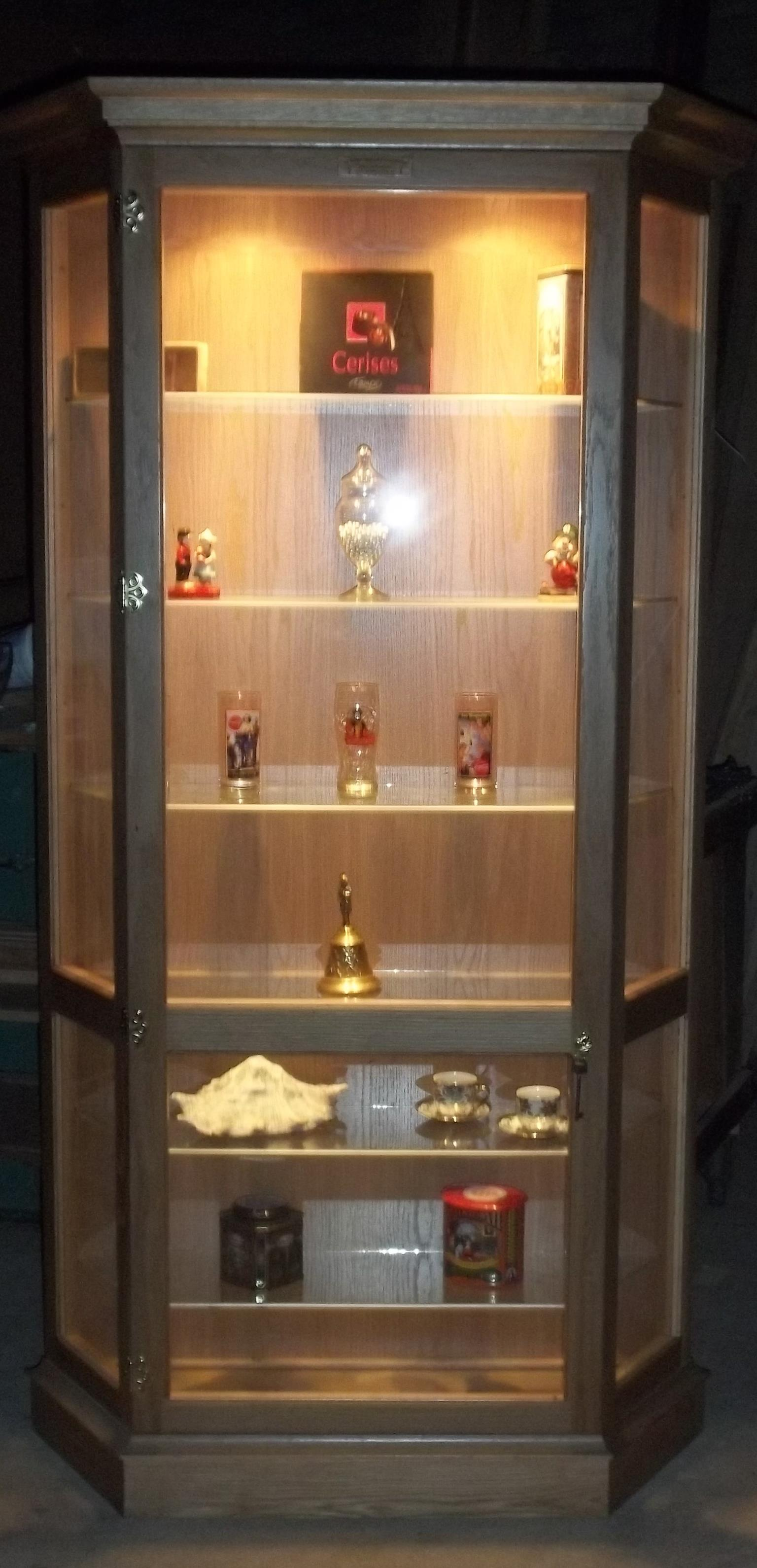 """Custom made Cabinets - """"Display Cabinets for Collectibles, Characters & Ornaments, Unrestricted view. Dust Proof !"""