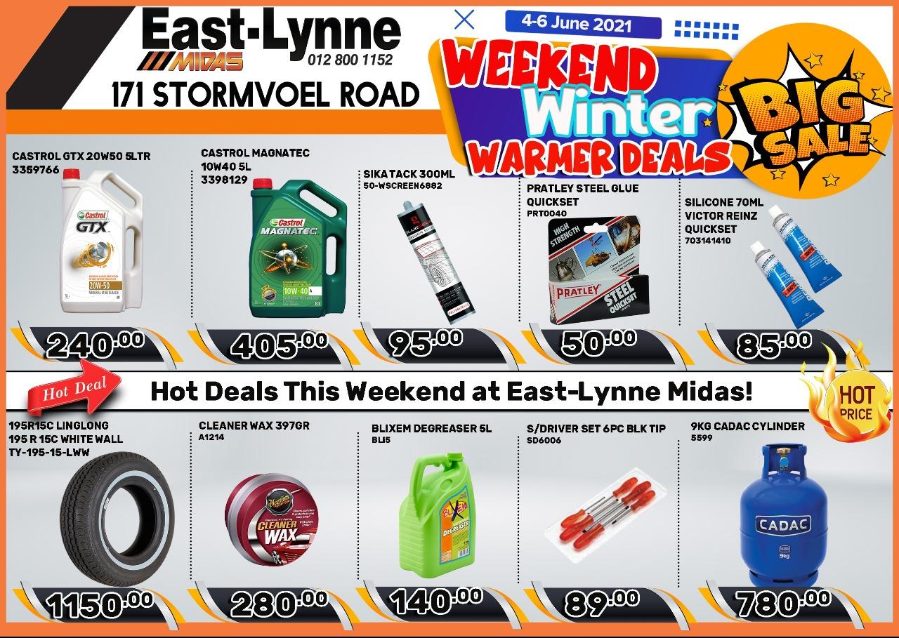 Weekend Winter Warmer Deals at East-Lynne MIDAS!