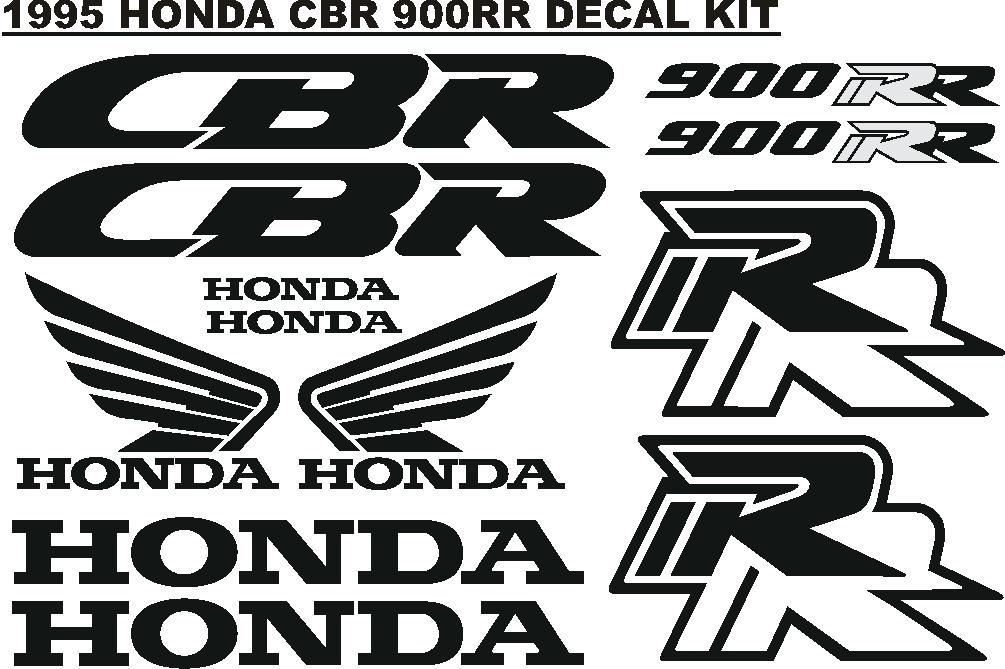 1995 CBR 900 RR decals stickers vinyl cut graphics kits