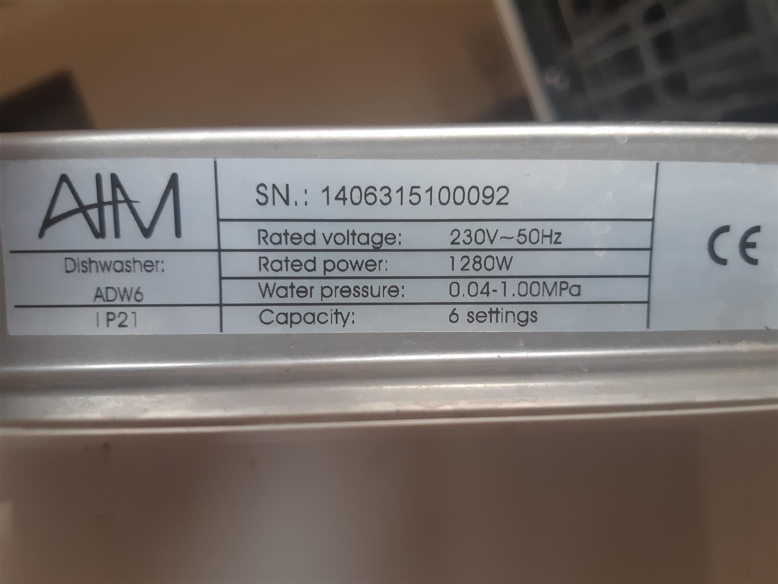 Counter top dishwasher