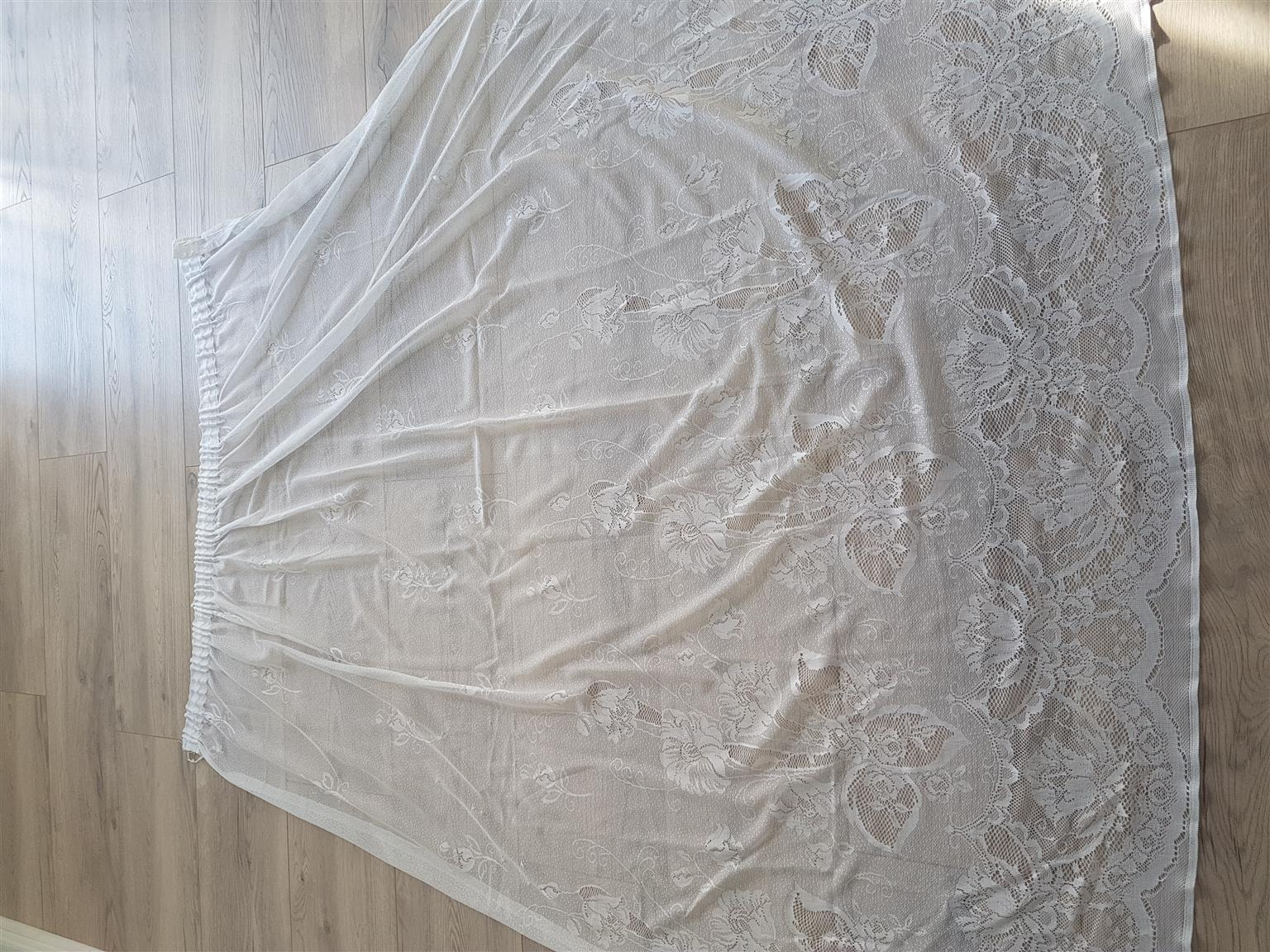 Beautiful White Lace Curtains