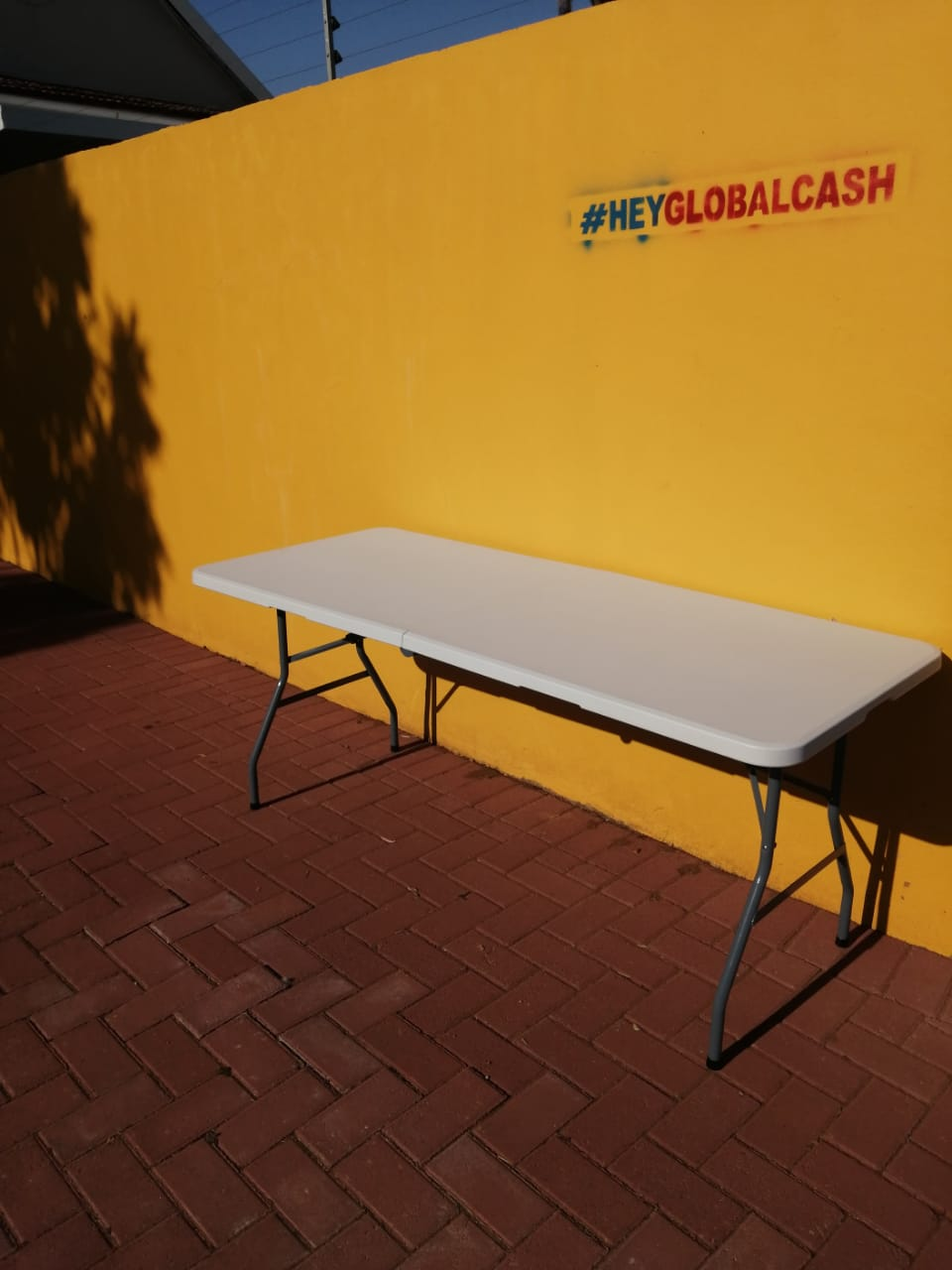 White Trestle Table for sale!