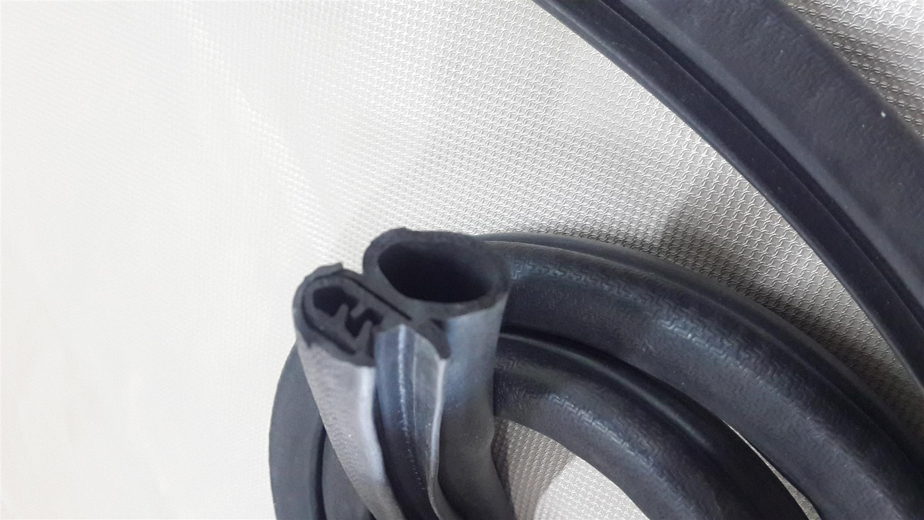 Automotive rubbers and clips for car doors, windows, garage etc