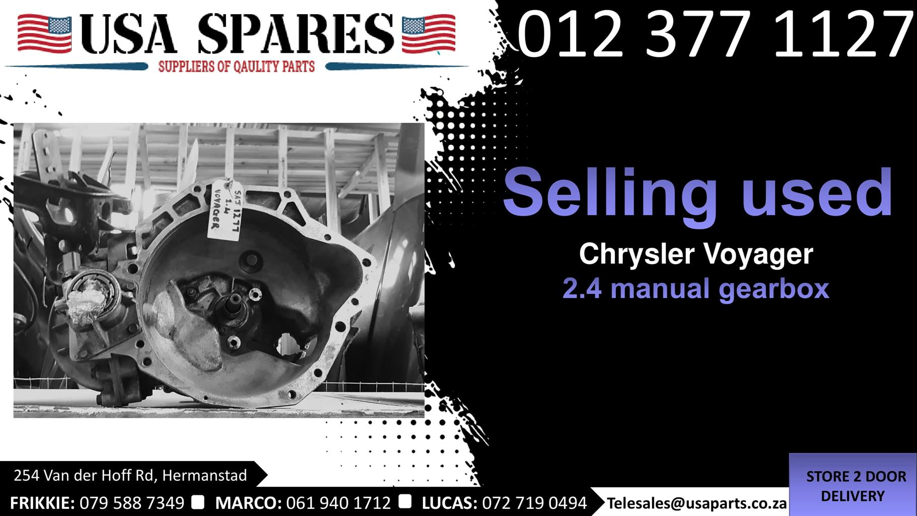 Chrysler Voyager 2.4 1999-03 manual gearbox for sale