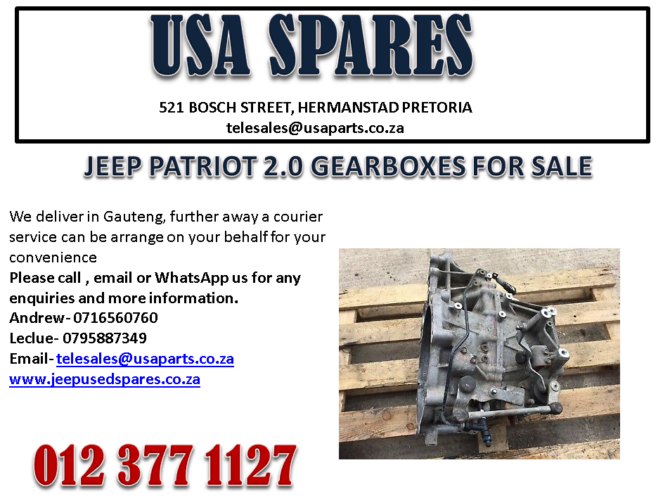 JEEP PATRIOT 2.0 GEARBOX FOR SALE