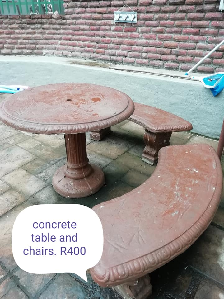 Fabulous Concrete Table And Chairs Pdpeps Interior Chair Design Pdpepsorg