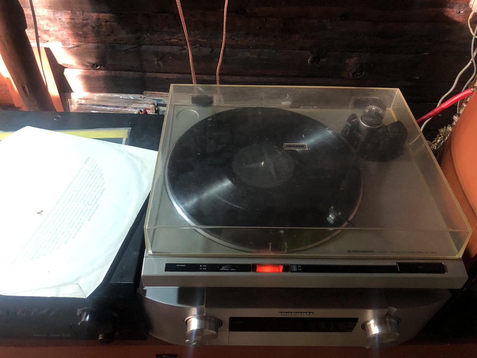 Pioneer turntable pl320 new cartridge and stylus service on all parts including motor playing great